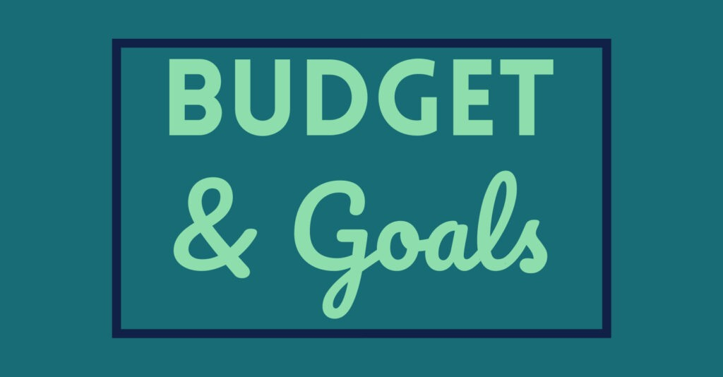 Budet and Goals Page Cover Photo by PositivelyFrugal.com