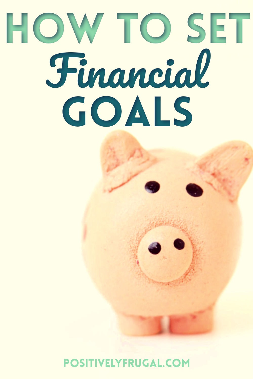 Financial Goals by PositivelyFrugal.com