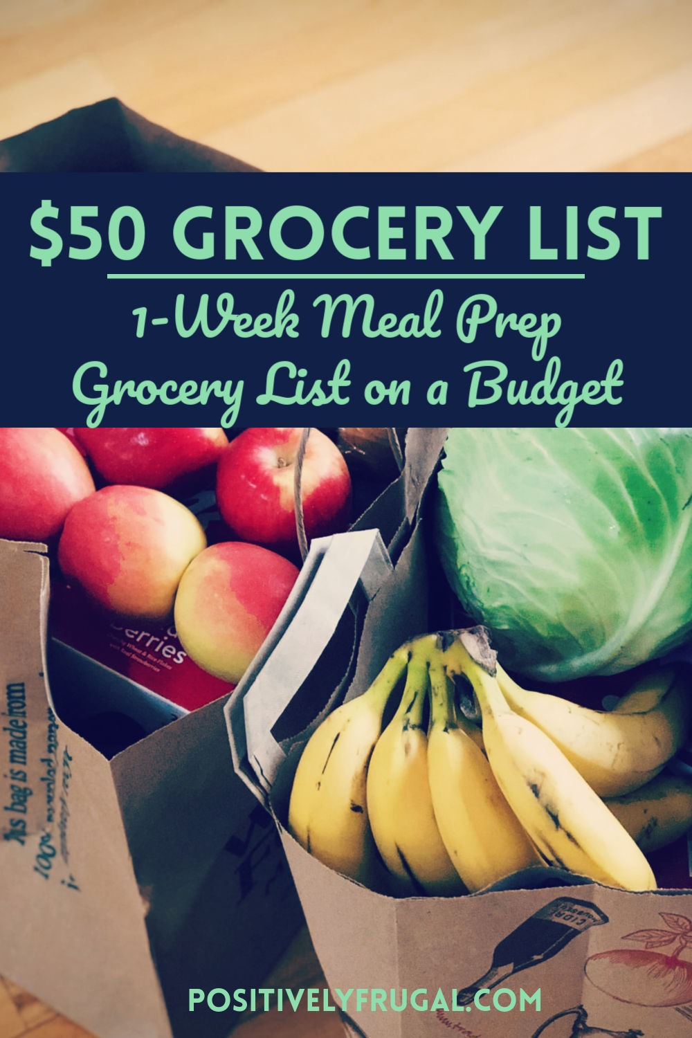 $50 Grocery List by PositivelyFrugal.com