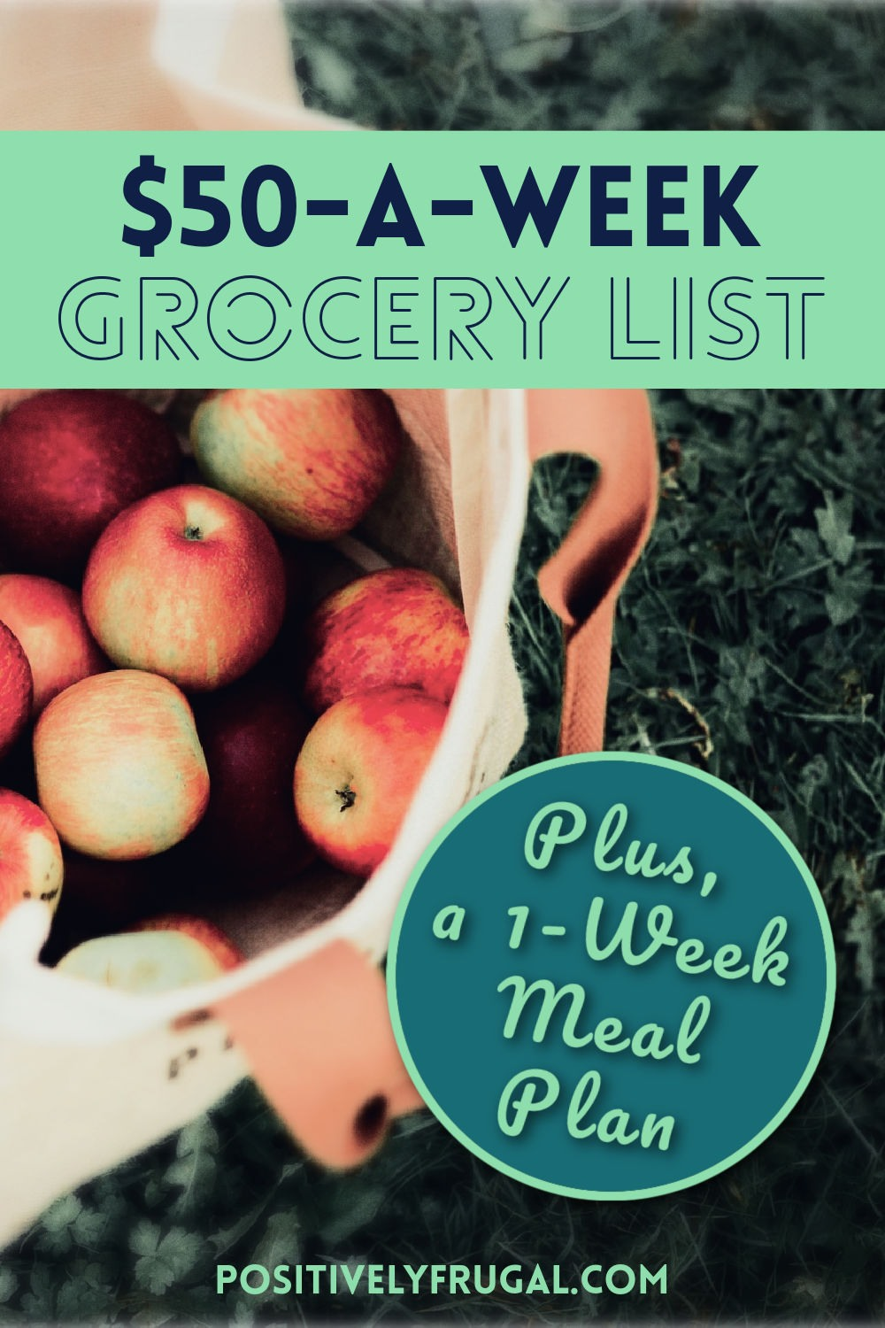 $50 a Week Grocery List by PositivelyFrugal.com