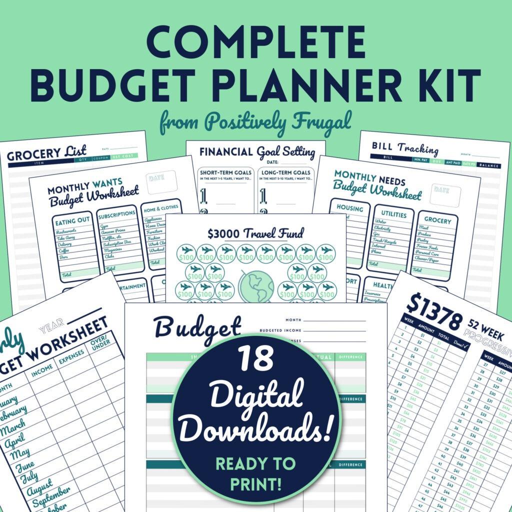 Complete Budget Planner Kit from PositivelyFrugal.com