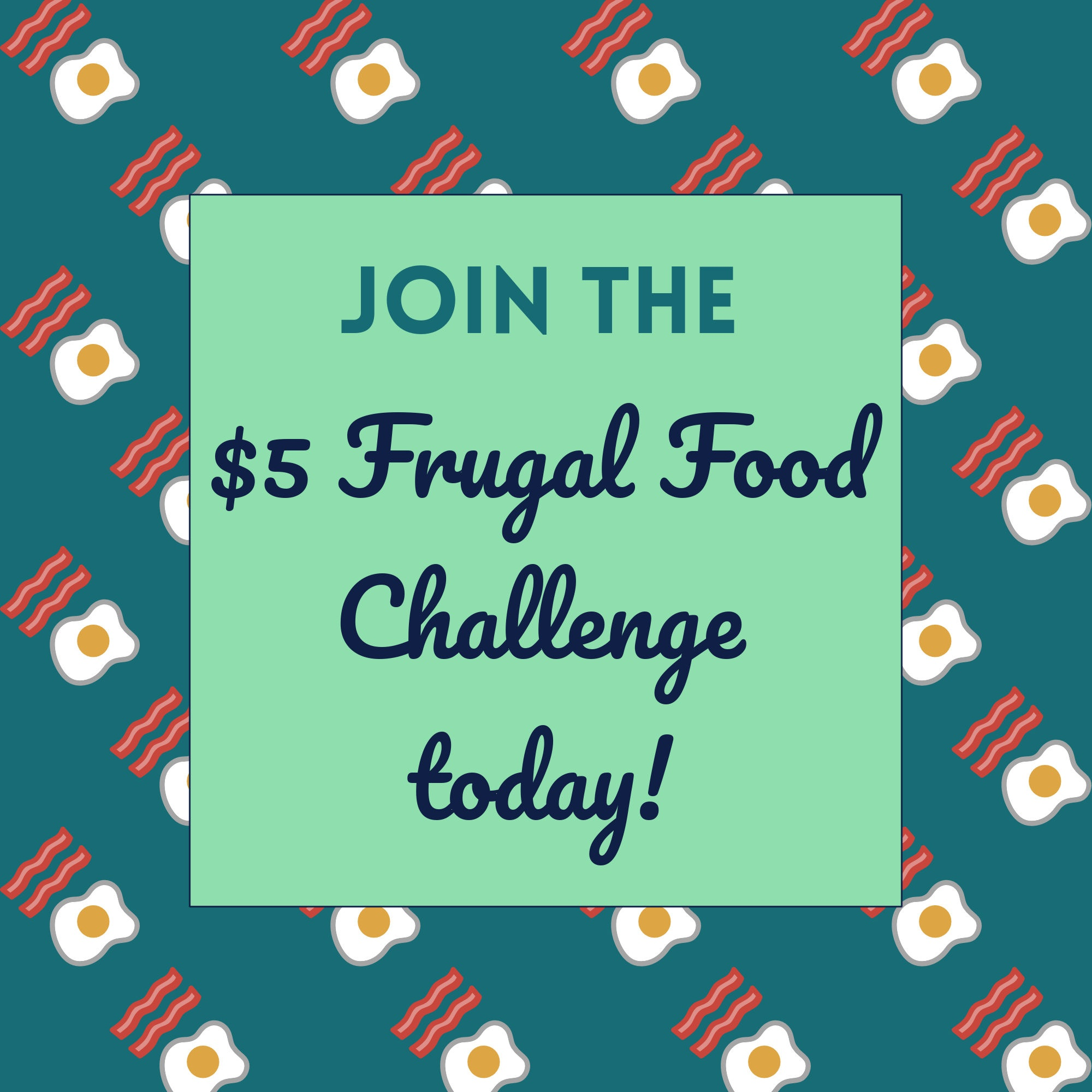 Join the $5 Frugal Food Challenge Lead Magnet Square by PositivelyFrugal.com