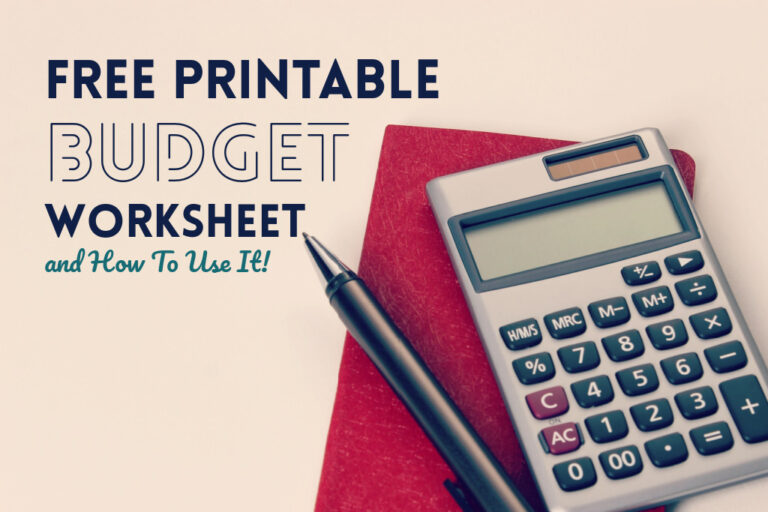 Read more about the article FREE Printable Budget Worksheet (and How To Use It!)
