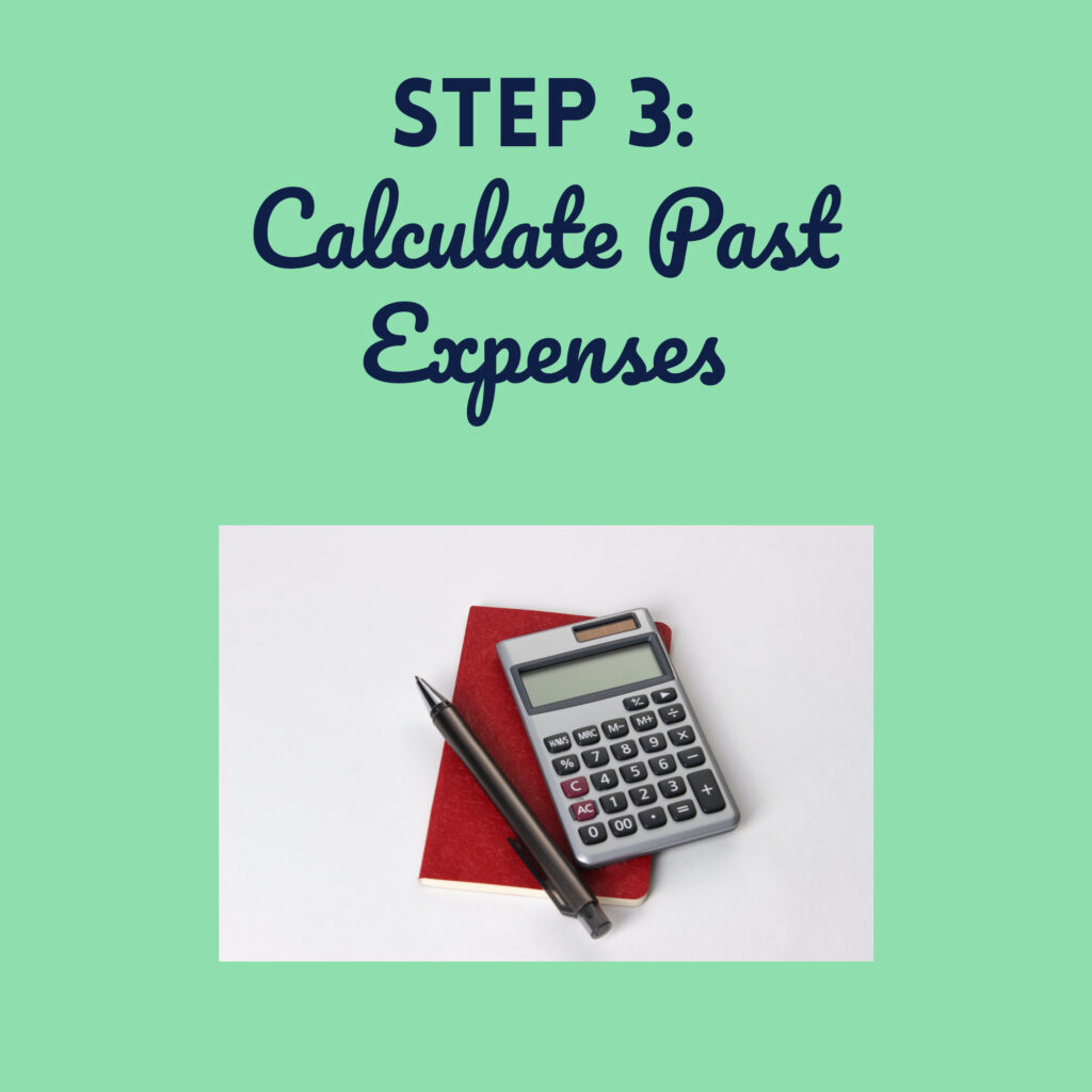 Step 3 Calculate Past Expenses for your Budget