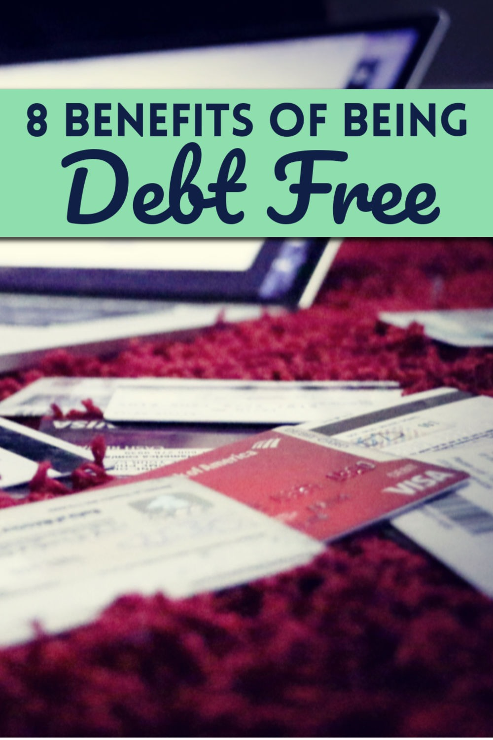 The Benefits of Being Debt Free by PositivelyFrugal.com