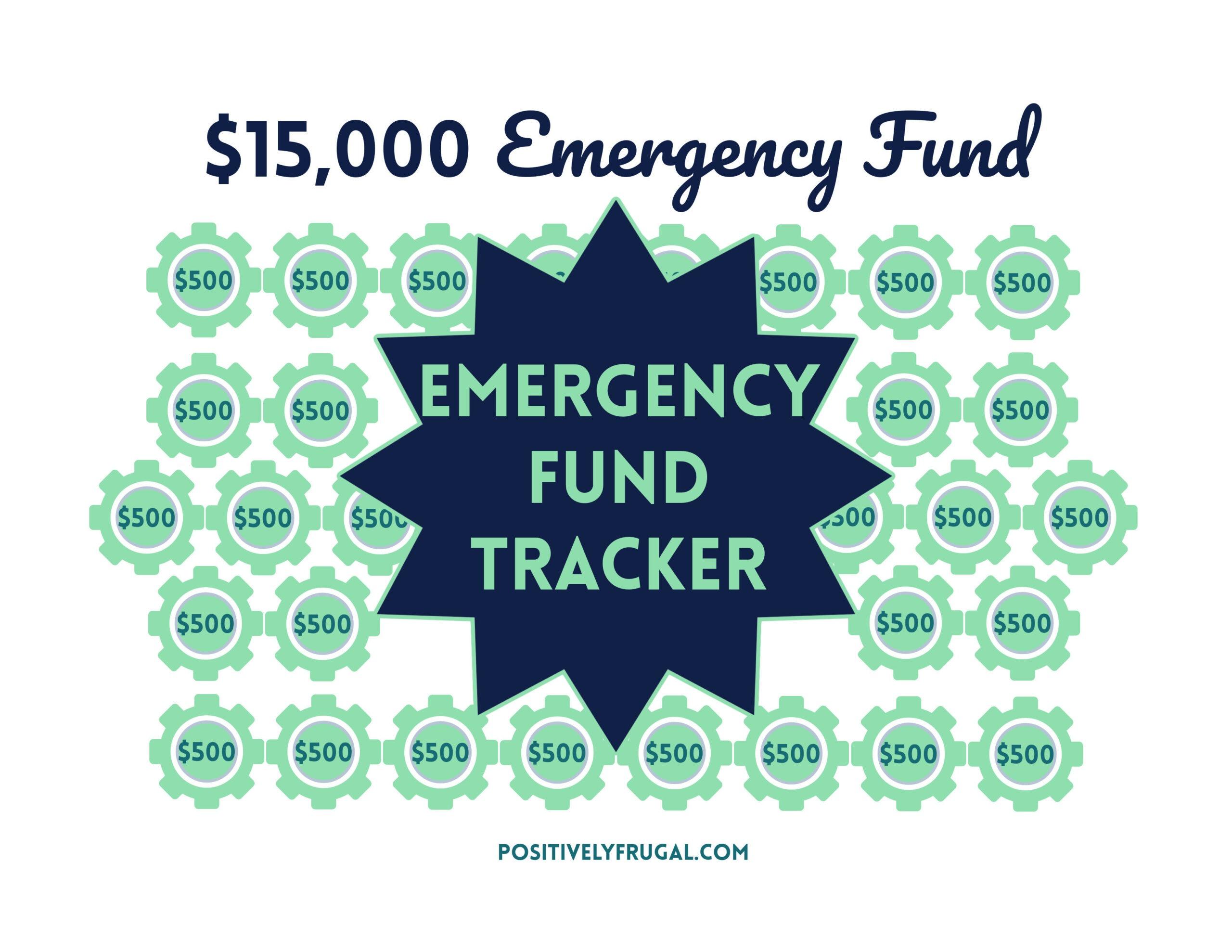 Emergency Fund Tracker by PositivelyFrugal.com